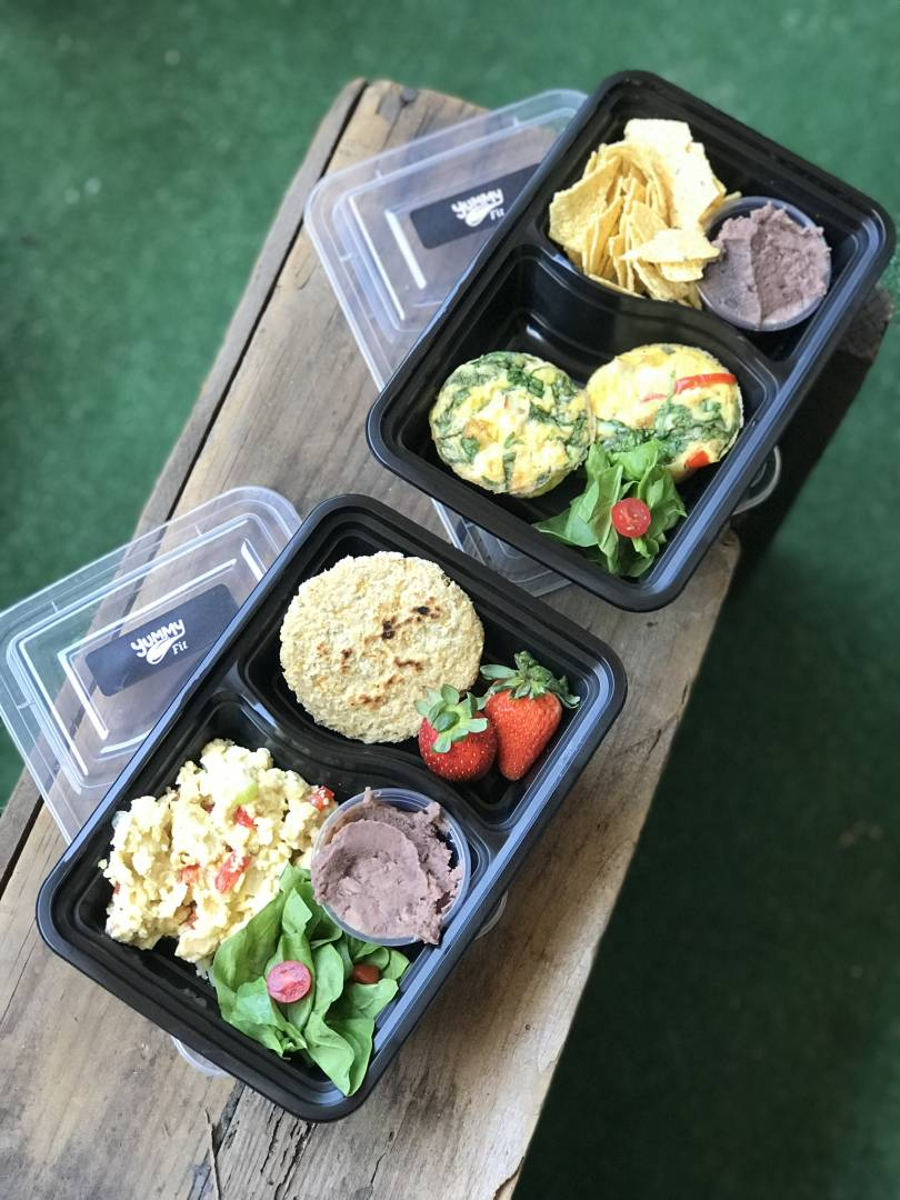 Scrambled Eggs with Vegetables and Rice Cakes
