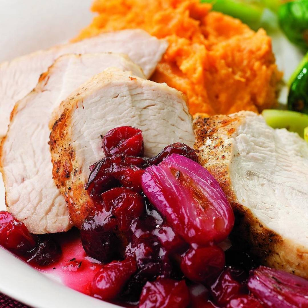 Lean Turkey Cranberries with Quinoa and Green Beans